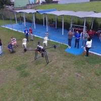 Aula prática de pilotagem de drone ITARC