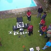 Vista aérea da turma da Academia de Drones e RPAS