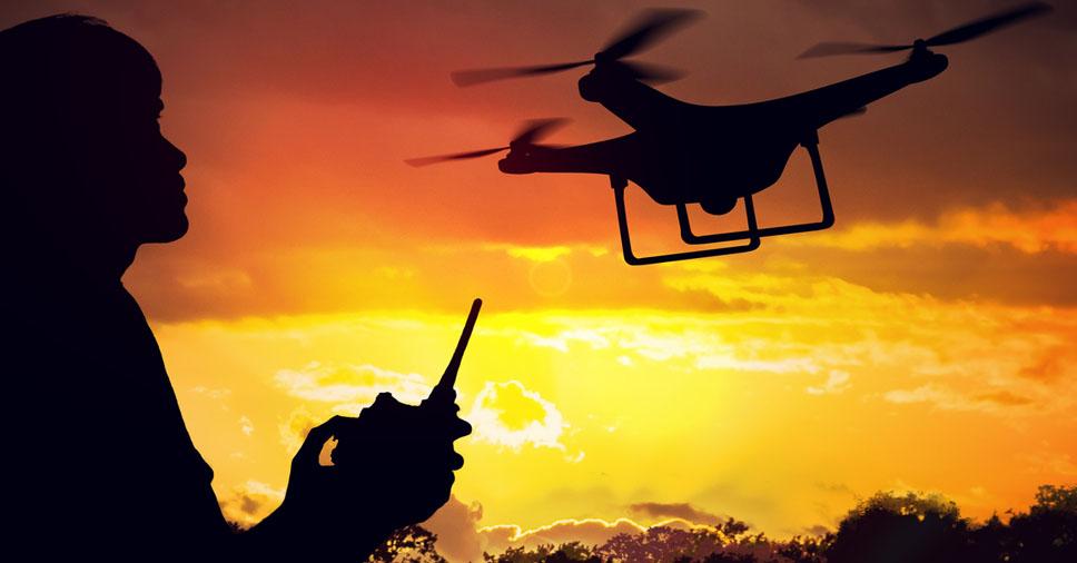 piloto de drone profissional