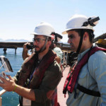 coordenação de um piloto de drone profissional