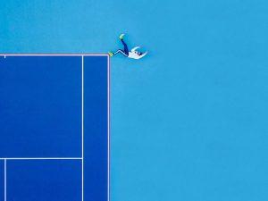 fotografia aérea com pessoa