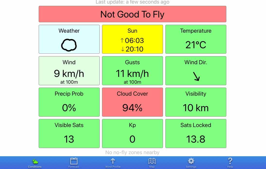 um dos aplicativos para pilotos