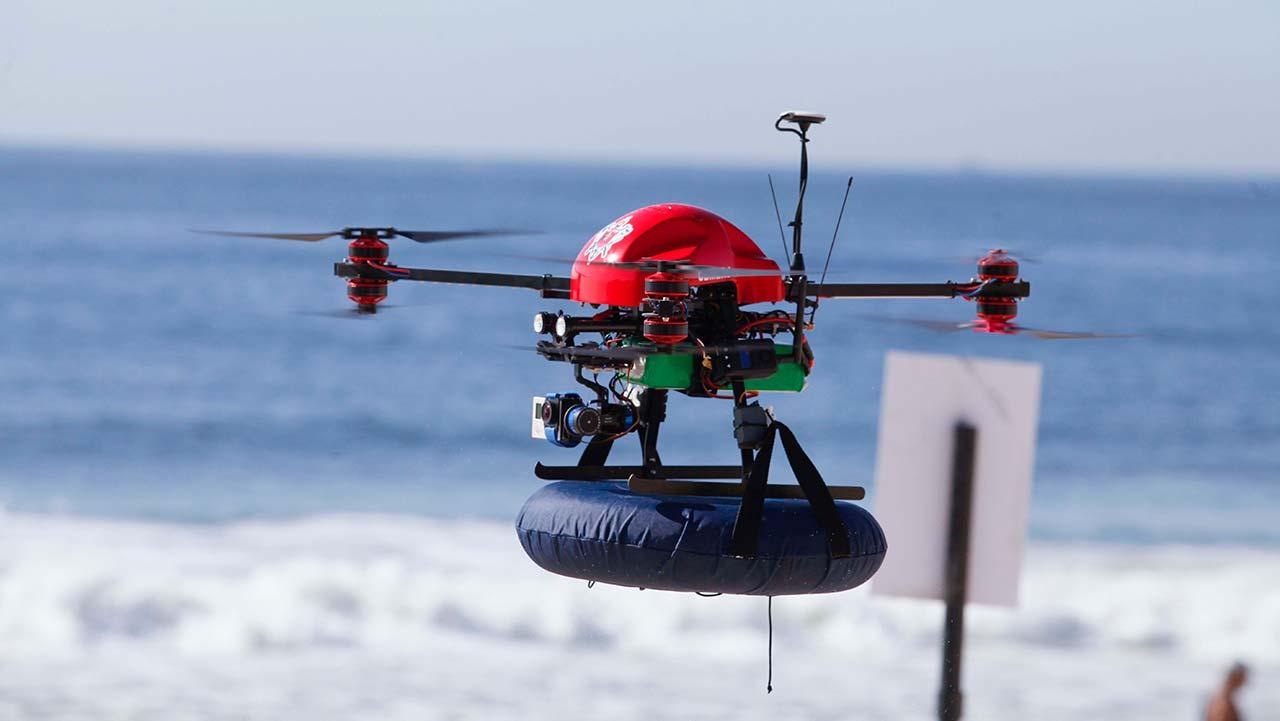usar drones para resgate