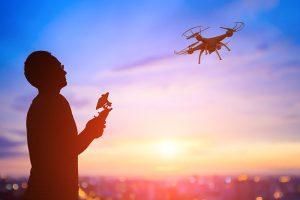 dicas de filmagem com drone sobre pôr do sol