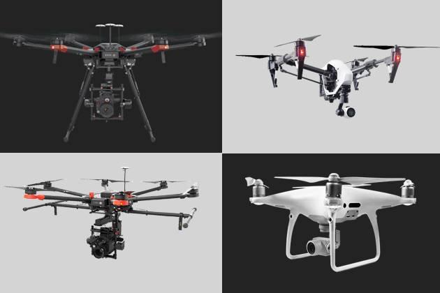 diferentes estilos de drones