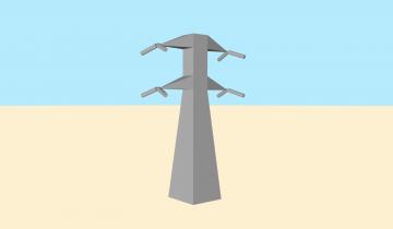 Modelo 3d de torres