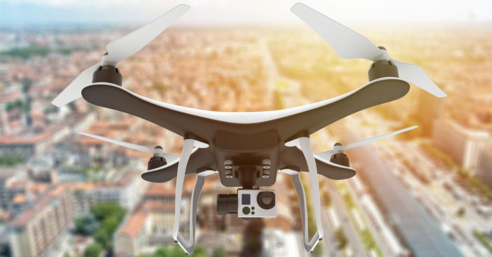 Imagem de drones para mapeamento