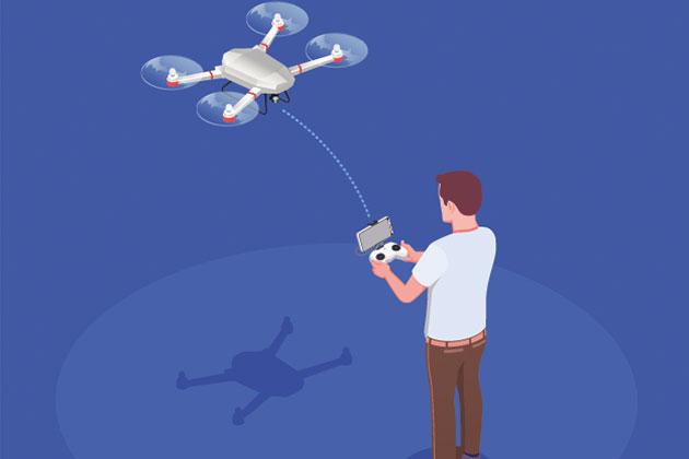 funcionamento da topografia com drones