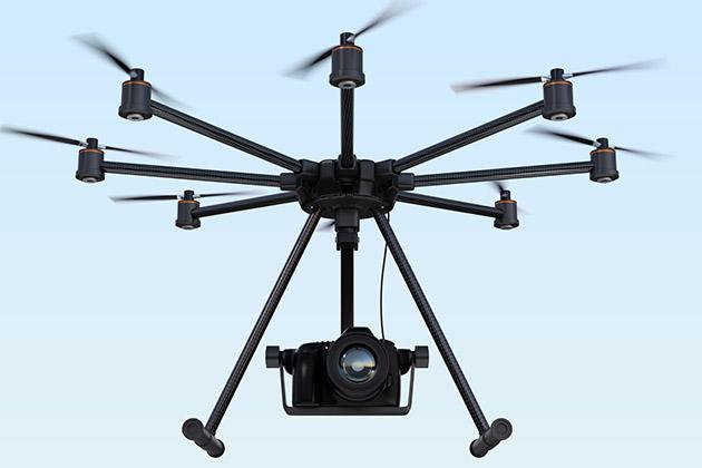 modelo de drones em filmes