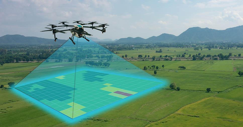 mapas aéreos com drones